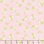 Mary Poppins - Tossed Frames Pink Metallic Yardage