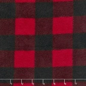 Fleece Plaids & Checks - Buffalo Plaid Black/Red Yardage