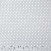 To the Moon & Back - Dots Light Gray Yardage