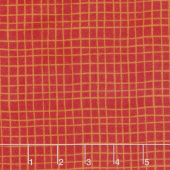 Alphabet Soup Flannel - Grid Red Yardage