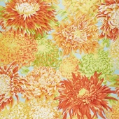 Kaffe Classics - Citrus Japanese Chrysanthemum Yellow Yardage