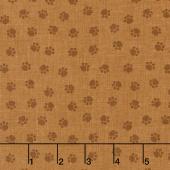 Puppy Love - Paws Brown Yardage