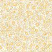 Florentine Garden - Flower Ivory Metallic Yardage