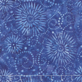 A Shore Thing Batiks - Flower Burst Blue Yardage