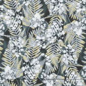 Zephyr - Fern Graphite Metallic Yardage