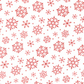 Gnome for Christmas - Snowflakes White Flannel Yardage