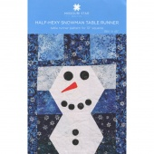 Half - Hexy Snowman Table Runner Pattern by MSQC