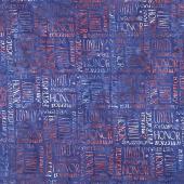 Freedom 2 Batiks - Americana Royal Blue Yardage
