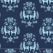 Juxtaposey - Posey Medallion Navy Yardage