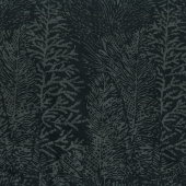 Black Beauty Batiks - Tree Texture Black & Charcoal Yardage