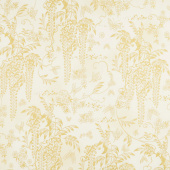 Imperial Collection 15 - Spring Flowers and Vines Ivory Metallic Yardage