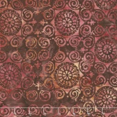 Bella Vita Batiks - Medallion Terracotta Yardage