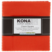 Kona Cotton 2018 Color of the Year - Tiger Lily Charm Pack