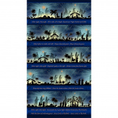 Silent Night - Border Stripe Midnight Panel