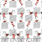 The Cat in the Hat - Cats White Yardage
