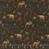Return to Cub Lake - Cub Lake Dark Brown Flannel Yardage