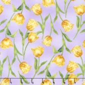 Garden Gathering - Tulips Purple Yardage