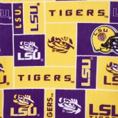 Fleece College - Louisana Tigers Purple Yardage