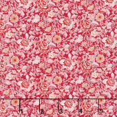 Garden Delights - Dotted Flowers Rose Yardage