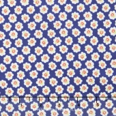 Coney Island - Cotton Blossoms Midnight Blue Yardage