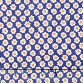 Coney Island - Cotton Blossoms Midnight Blue Yardage