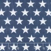 Live Free - Stars Set Blue Yardage