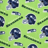 NFL Fleece - Seattle Seahawks Lime Green Yardage