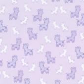 Cozy Cotton Flannels - Pink Giraffes Lavender Yardage