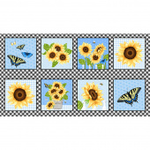 Sunny Sunflowers - Sunflower Blocks Multi Panel