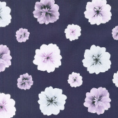 Essence of Pearl - Purple Floating Blossoms Purple Yardage