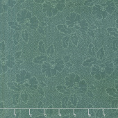 Sequoia - Silhouette Floral River Blue Yardage