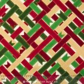 Suite Christmas - Ribbon Wrap Candy Cane Metallic Yardage