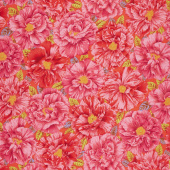 Kaffe Fassett Collective - Stash Scarlet Florals Bouffant Red Yardage