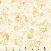 Victoria Gardens - Princess Roses Natural Yardage