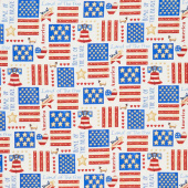 Land of the Free - Patch Cream Yardage