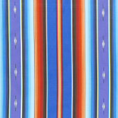 Southwest - Fiesta Serape Stripe Royal Yardage