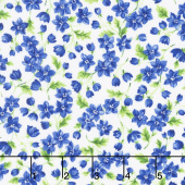 Summer Breeze V - Flowers & Leaves Ivory Yardage