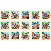 Animals - Beach Selfies Animals Blocks Cream Panel
