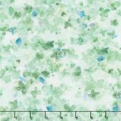 Dreaming of Tuscany - Packed Petals Green Digitally Printed Yardage