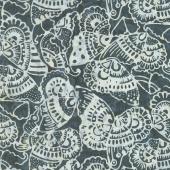 Signature Batiks - Tribal Butterfly Black Yardage