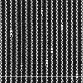 Old Made - Zipper Stripes Black Yardage