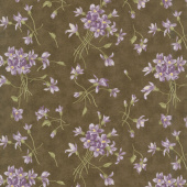 Sweet Violet - Violet Spray Earth Yardage