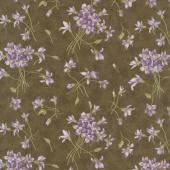 Sweet Violet - Violet Spray Earth Yardage
