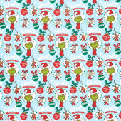 How the Grinch Stole Christmas - Grinch and Friends Ornaments Holiday Yardage