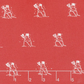 Snow Sweet - Small Snowmen Red Yardage