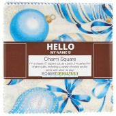 Holiday Flourish 10 Blue Charm Pack