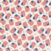 America, My Home - Flag and Star Toss Tan Yardage