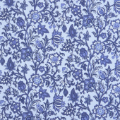 Blue Byrd - Rambling Floral Wedgewood Yardage