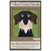 Wire Haired Dachshund Black Precut Fused Appliqué Pack