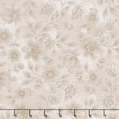 Tickled Pink - Lacey Floral Cream Yardage